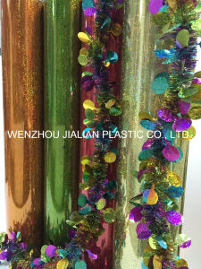 Rigid Holographic/Laser PVC Film/Sheet with Colors for Christmas Decorations pictures & photos