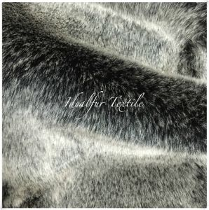 Luxury Black Fox Faux Fur with Discharge pictures & photos