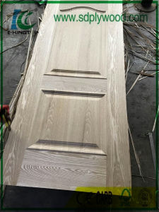 Ash Veneer HDF Moulded HDF Door Skin Thickness 3mm for Middle East, Africa pictures & photos