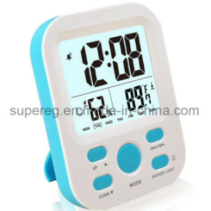 Wall Digital Alarm Clock with Low Nightlight, Temperature pictures & photos