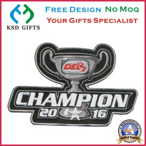 2016 3D Champion Wholesale Iron Backing Embroidery pictures & photos