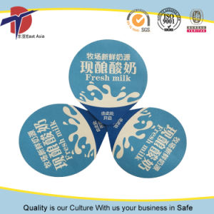 Embossed Heat Seal Aluminium Foil Lids for Milk Cup pictures & photos
