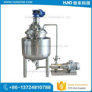 Electric Heating Vacuum Cream Emulsifying Tank with Emulsifying Pump pictures & photos