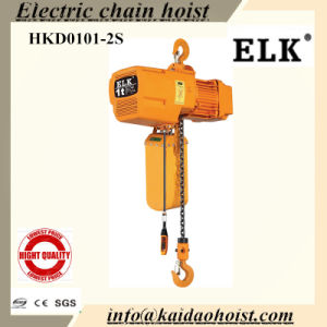 New! ! ! 1ton Electric Chain Hoist with Hook / Slipping Clutch pictures & photos