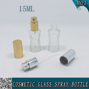 15ml Mini Clear Cosmetic Glass Perfume Spray Bottle pictures & photos