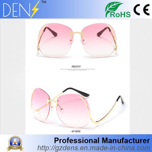 Metal Flat Lens Vintage Fashion Mirrored Oversized Sunglasses pictures & photos