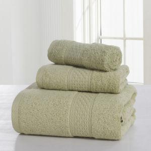 Wholesale 100% Cotton Solid Color Bath Towel Towel Sets pictures & photos