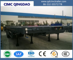 40FT 12.5m 3 Axles Cimc Flatbed Semi Truck Trailer pictures & photos