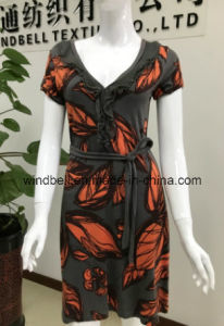 Comfortable Daily Womens Dress with All-Over Printing pictures & photos
