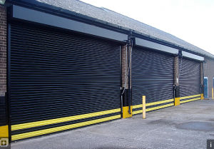 Industrial Warehouse High Speed Roll up Sheet Shutter Door Roll up Door Shutters (Hz-FC0452) pictures & photos