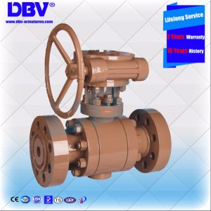 Industrial Worm-Gear Rtg Flange End Forging Trunnion Mounted Ball Valve