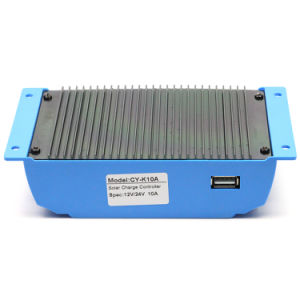 12V/24V 20A Solar Charger Controller USB 5V/2A for Solar System with Max PV Input 36V Cy-K20A pictures & photos