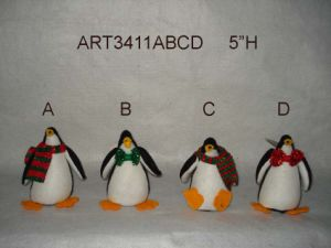 """5.5""""Hx4""""Lchristmas Decoration Penguin with Metal Sled, 3 Asst- pictures & photos"""