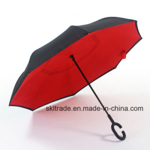 Double Layer Portable Straight Reverse Inverted Umbrella for Car pictures & photos