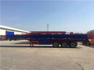 3 Axles Side Wall Flatbed Trailer pictures & photos