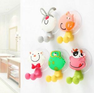 Cartoon Plastic Tooth Brush Holder with Suction Bathroom Accessories pictures & photos