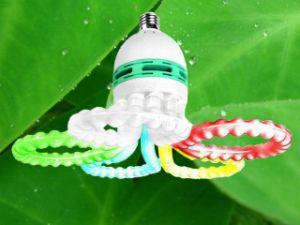 Color Flower 105W Tri-Color Energy Saving Lamp E27/B22 220-240V CFL Bulb pictures & photos