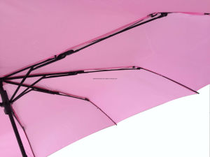 21inch Manual Open Strong Frame 3 Fold Umbrella (SU025) pictures & photos