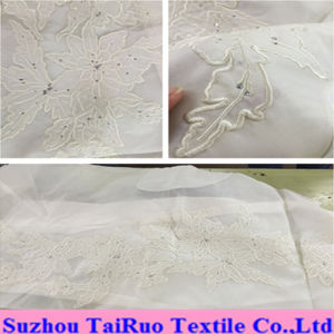 100% Embroidered Chiffon Silk for Lady Garment Fabric pictures & photos