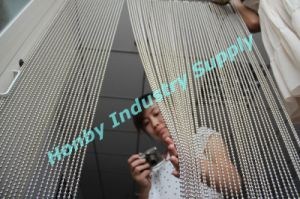 Silver Shimmer Screen Effect Metal Beaded Curtain pictures & photos