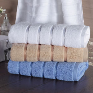 Cheap Promotion Wholesale Multi-Color Hotel Jacquard Cotton Bath Towel pictures & photos