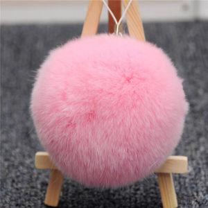 Wholesale Price Cute Rabbit Fur Ball POM POM Keychain pictures & photos