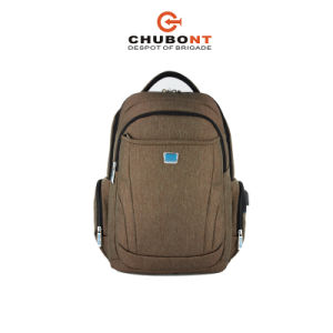 Chubont Size 17.5′′ Coffee Vertical Backpack Nylon Backpack Hiking Backpack pictures & photos