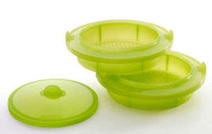 Double-Layer Food Grade Plastic Platinum Silicone Food Steaming Basket