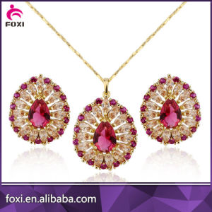 Top Quality Fancy Design 18k Gold Jewelry Set pictures & photos