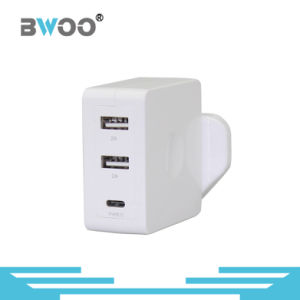 Two USB Wall Charger with UK Us EU Plug pictures & photos