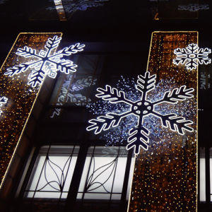 Shopping Mall Target Christmas LED Lights Decorations with Snowflake Design pictures & photos
