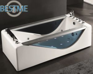 Sanitary Ware Freestanding Whirlpool Jacuzzi Acrylic Bath Tub for Bathroom (BT-A1019) pictures & photos