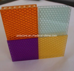 Light Transmission Decorative Honeycomb Panel (pink) pictures & photos