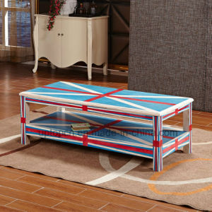Wood Rectangle Table with Shelf Layer for Living Room (SP-RT552) pictures & photos