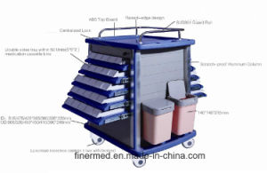 Double Side Hosptial Emergency Medicine Trolley pictures & photos