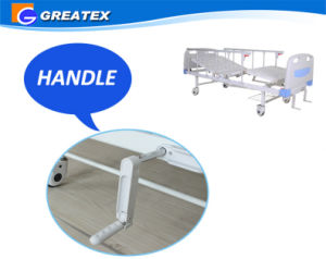 Manual Patient Beds with Detachable ABS Board pictures & photos