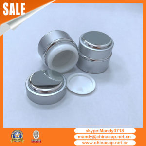 Wholesale 7g Face Cream Mockup Glass Jar with Aluminum Lid pictures & photos