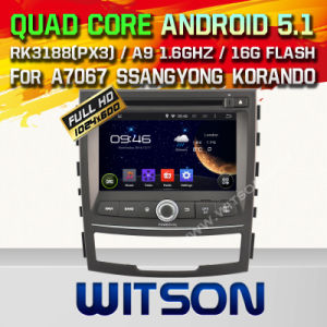 Witson Android 5.1 Car DVD for Ssangyong Korando 2010-2013 pictures & photos