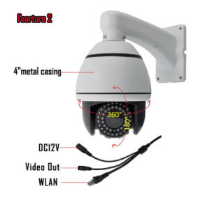 Digital Recording 10X Zoom CCTV Surveillance PTZ Camera pictures & photos