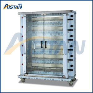 Kj6 6 Burners Vertical 30~36 PCS Chicken Gas Roaster Oven for Food Equipment pictures & photos