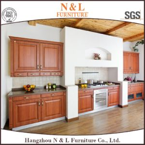 Modern Design Home Furniture Dark Color Wooden Kitchen Furniture pictures & photos