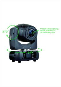 Brighten 100W Mini LED Stage Lights Intelligent Moving Head Spot pictures & photos