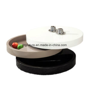 Interesting Chic Flexible Oval Wooden Rotation Storage Coffee Table pictures & photos