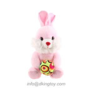 Colorful Wholesale Easter Plush Rabbit Toy Gifts with Egg pictures & photos