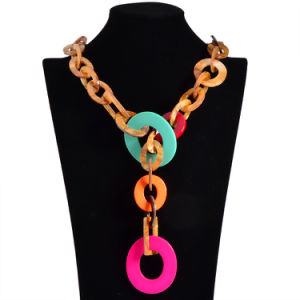 Fashion Acrylic Colorful Big Circles Pendant Choker Necklace Jewelry pictures & photos