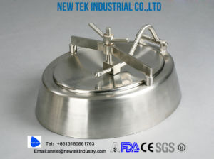 Sanitary Eliptical Shadowless Manways Manhole Cover 304 316 Stainless Steel pictures & photos
