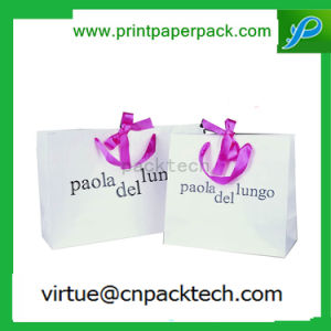 Customized Printing Color Garment Kraft Paper Bag with Silk Handle pictures & photos
