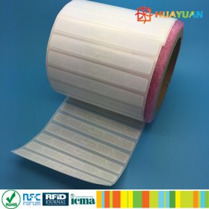 96bit Serialized TID security IMPINJ Monza R6 adhesive UHF RFID tag pictures & photos