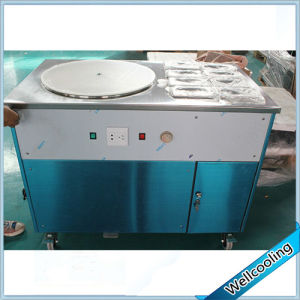 Ce High Quality Single Pan Roll Ice Cream Machine with 8 Toppings pictures & photos