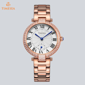 Fashion Crystal Watch Ladies Quartz Wrist Watch Women Rose Gold Jewelry Watch with 10ATM Waterproof Quality 71041 pictures & photos